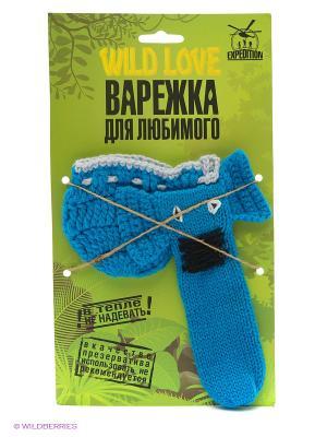Варежка для Любимого Слоник Экспедиция. Цвет: лазурный, голубой, темно-синий