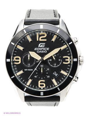 Часы EDIFICE EFR-553L-1B CASIO. Цвет: черный
