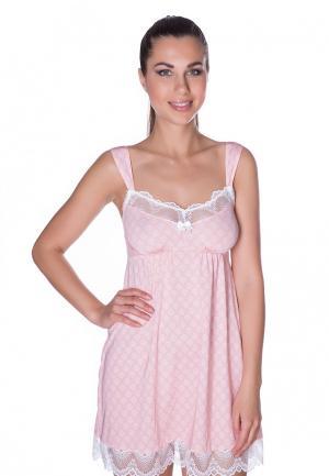 Сорочка ночная Rose&Petal. Цвет: розовый