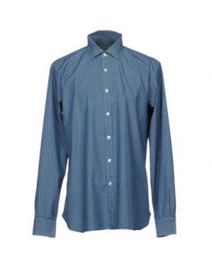 Джинсовая рубашка BARBA Napoli. Цвет: синий