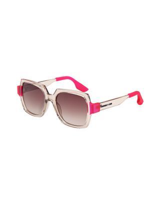 Солнцезащитные очки McQueen. Цвет: бежевый
