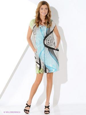 Платье Malvin. Цвет: голубой, черный