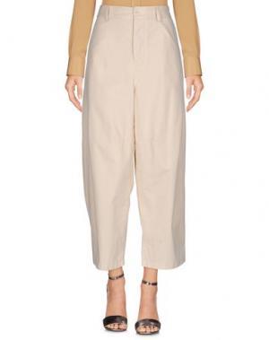 Повседневные брюки VIRNA DRÒ®. Цвет: слоновая кость