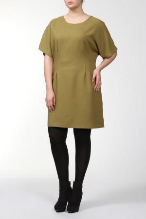 Платье Asil. Цвет: оливковый