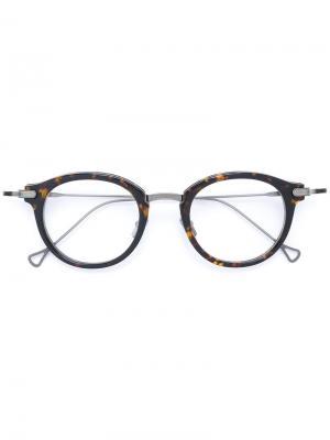 Очки Edmond Dita Eyewear. Цвет: коричневый