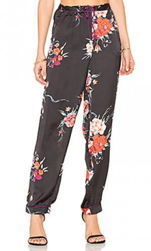 Botanical floral pant Band of Gypsies. Цвет: черный