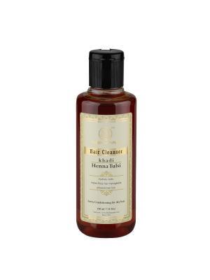 Укрепляющий шампунь Хна и Тулси для сухих волос Khadi Natural. Цвет: светло-коричневый