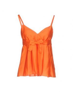 Топ без рукавов MAISON LAVINIATURRA. Цвет: оранжевый