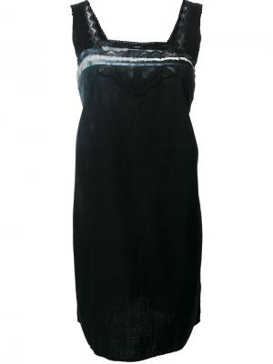 Платье с вышивкой Blackyoto. Цвет: чёрный