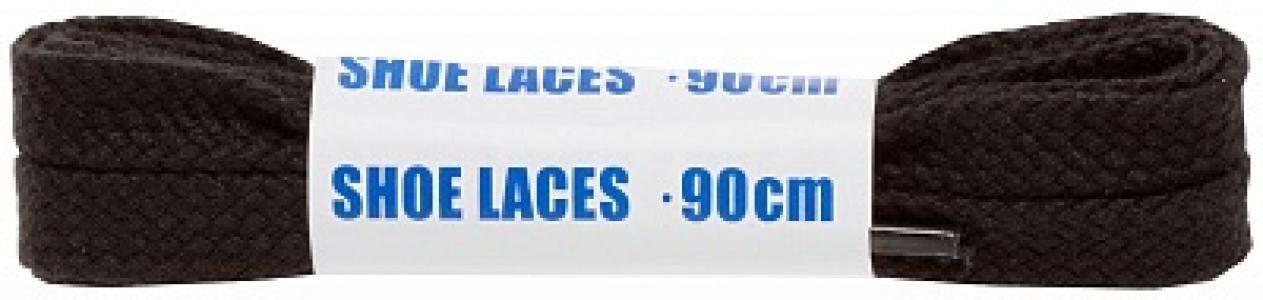 Шнурки черные плоские  Sport, 90 см Woly