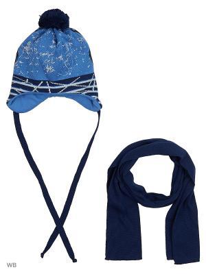 Шапка и шарф Agbo. Цвет: голубой