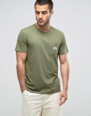 Penfield Футболка классического кроя оливкового цвета с логотипом на кармане Pe. Цвет: зеленый