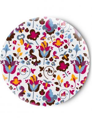 Зеркальце Tina Bolotina. Цвет: серо-голубой, красный, белый