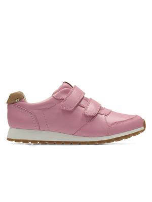 Кроссовки Clarks. Цвет: розовый
