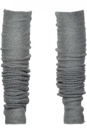 Вязаные гетры Deha. Цвет: серый