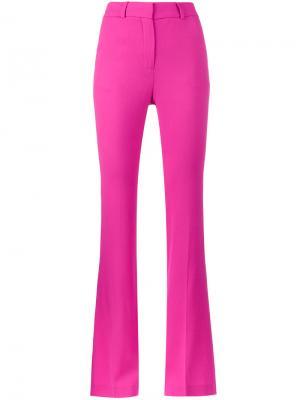 Расклешенные брюки с завышенной талией Filles A Papa. Цвет: розовый и фиолетовый