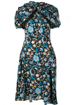 Платье с цветочным узором J.W.Anderson. Цвет: многоцветный