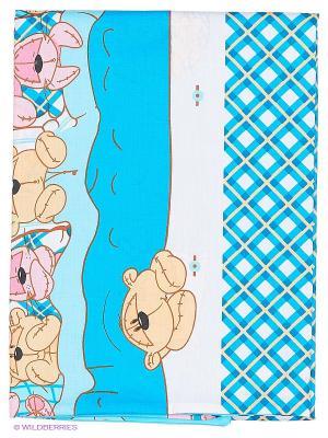 Комплект постельного белья 3-х предметный Наша Мама. Цвет: голубой