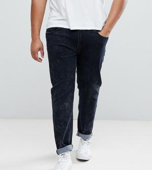 Liquor N Poker Серые джинсы скинни с эффектом кислотной стирки PLUS. Цвет: серый