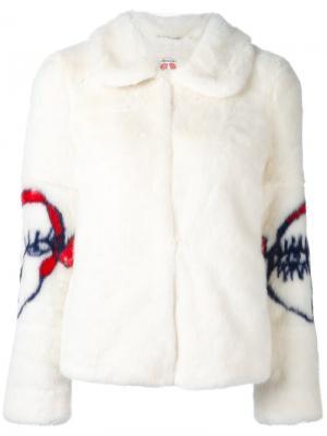 Укороченная куртка Junior Shrimps. Цвет: белый