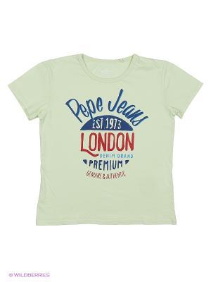Футболка PEPE JEANS LONDON. Цвет: зеленый, оранжевый