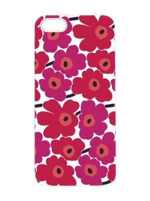 Чехол для iPhone 5/5s Малиновые ромашки Арт. IP5-095 Chocopony. Цвет: малиновый, красный