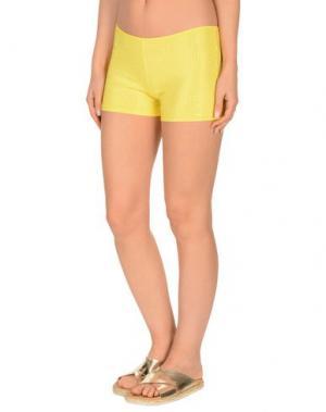 Пляжные брюки и шорты FISICO. Цвет: желтый