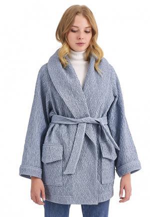 Пальто Nastasia Sabio. Цвет: голубой