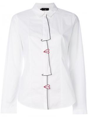 Классическая рубашка Cotélac. Цвет: белый