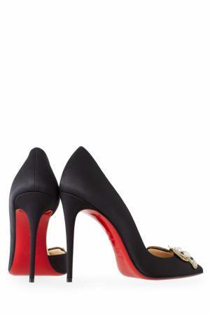 Туфли с вышивкой Barzas 100 Christian Louboutin. Цвет: черный