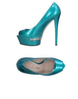 Туфли ENIO SILLA for LE. Цвет: бирюзовый