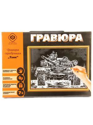 Набор для создания гравюры Танк 21х30 см Фабрика Фантазий. Цвет: черный