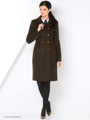Пальто Gamelia. Цвет: коричневый