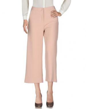 Повседневные брюки MYTHS. Цвет: розовый