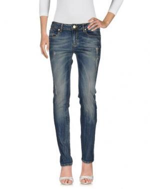 Джинсовые брюки MISS MONEY. Цвет: синий