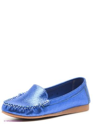 Мокасины EVITA. Цвет: синий