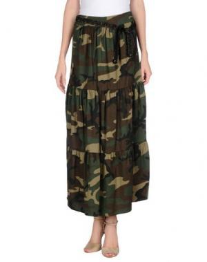 Длинная юбка SOUVENIR. Цвет: зеленый-милитари