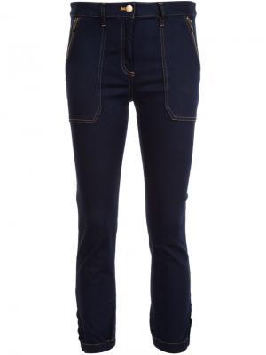 Cropped capri trousers Veronica Beard. Цвет: синий