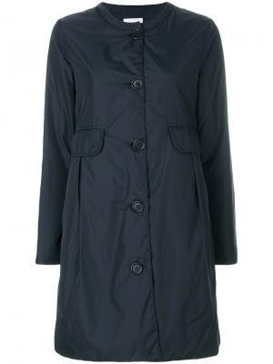 Пальто на пуговицах Aspesi. Цвет: синий