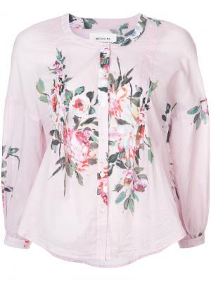 Блузка с цветочным принтом Mcguire Denim. Цвет: розовый и фиолетовый