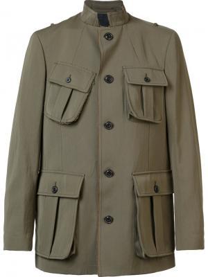 Military jacket Wooster + Lardini. Цвет: зелёный