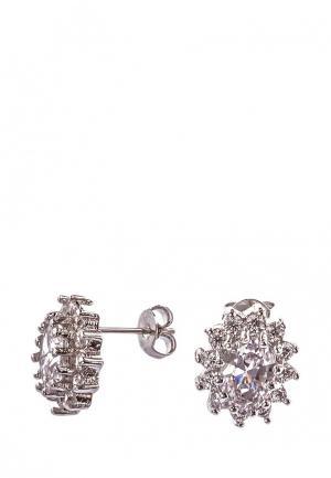 Серьги Lebedi Crystals. Цвет: серебряный