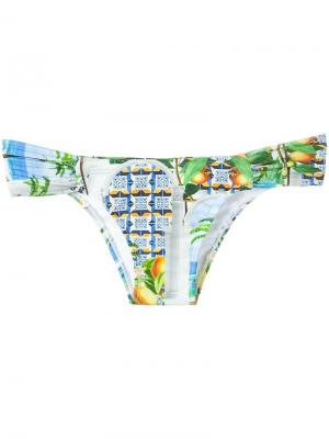 Printed bikini bottom Blue Man. Цвет: многоцветный