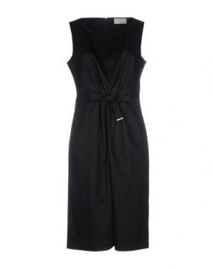 Платье до колена ROBERTA SCARPA. Цвет: черный