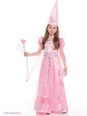 Карнавальный костюм Фея сказочная розовая Батик. Цвет: розовый