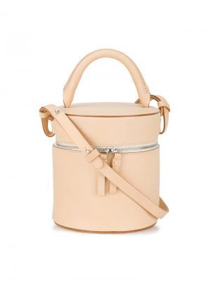 Цилиндрическая сумка на плечо Building Block. Цвет: телесный