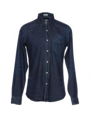 Джинсовая рубашка ROŸ ROGER'S. Цвет: синий