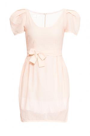 Платье из хлопка с поясом 165183 Villa Turgenev. Цвет: розовый