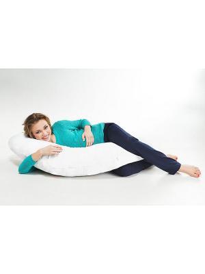 Подушка Бумеранг с наваолочкой SMART-TEXTILE. Цвет: голубой