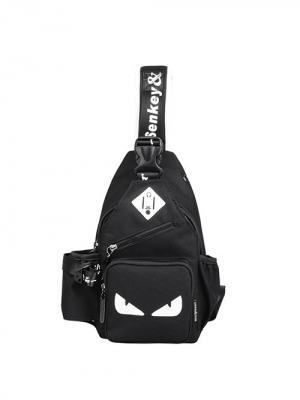 Рюкзак с одной лямкой через плечо USB 2.0 тип A-A и разъемом AM/AF City Flash. Цвет: черный, белый